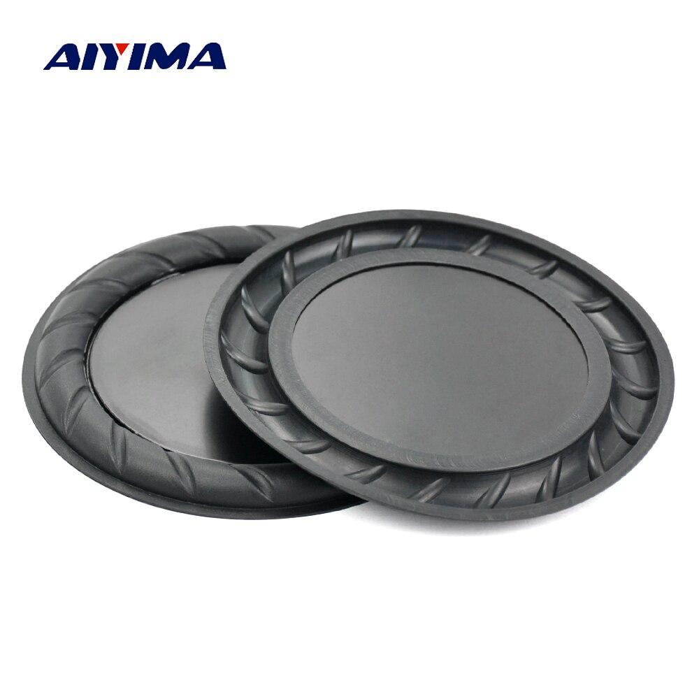 AIYIMA 2 uds 2,5 3,5 pulgadas altavoz pasivo de goma del radiador Bass Vibration 64mm 90mm membrana diafragma Subwoofer auxiliar DIY