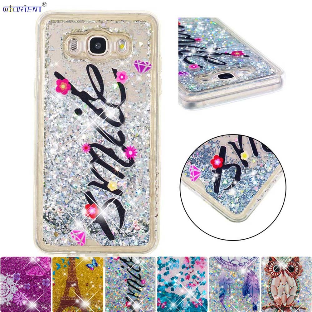 Nice Cute Case For Samsung Galaxy J7 2016 J76 6 Glitter Stars Liquid Quicksand Fitted Phone Cover Sm-j710f Sm-j710fn/ds Soft Funda Pure White And Translucent Half-wrapped Case