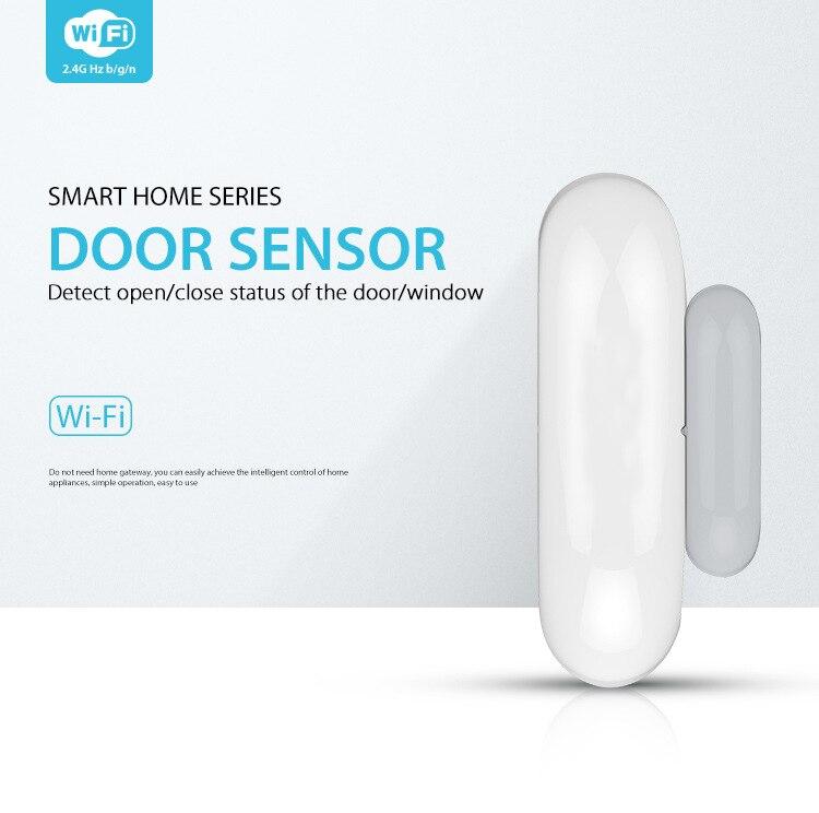 YobangSecurity 5pcs lot APP Control Wifi Door Window Sensor Detector Door Contact Detect Door Close Open