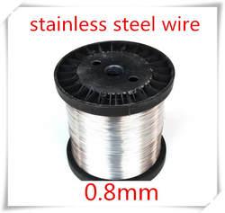50 м 0.8 мм из нержавеющей стали провод трудно состояние, Sus304, Яркий стальной проволоки