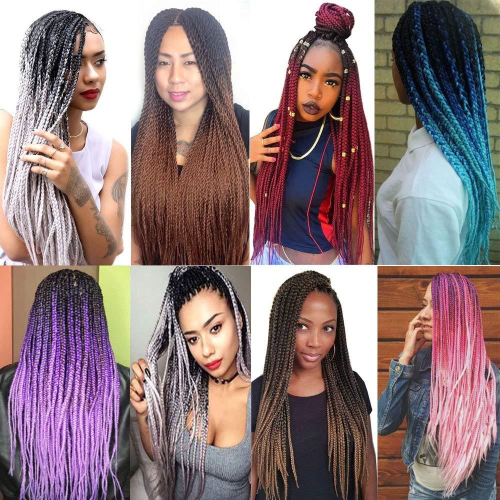 g pc rosa azul cinza extensões do cabelo africano