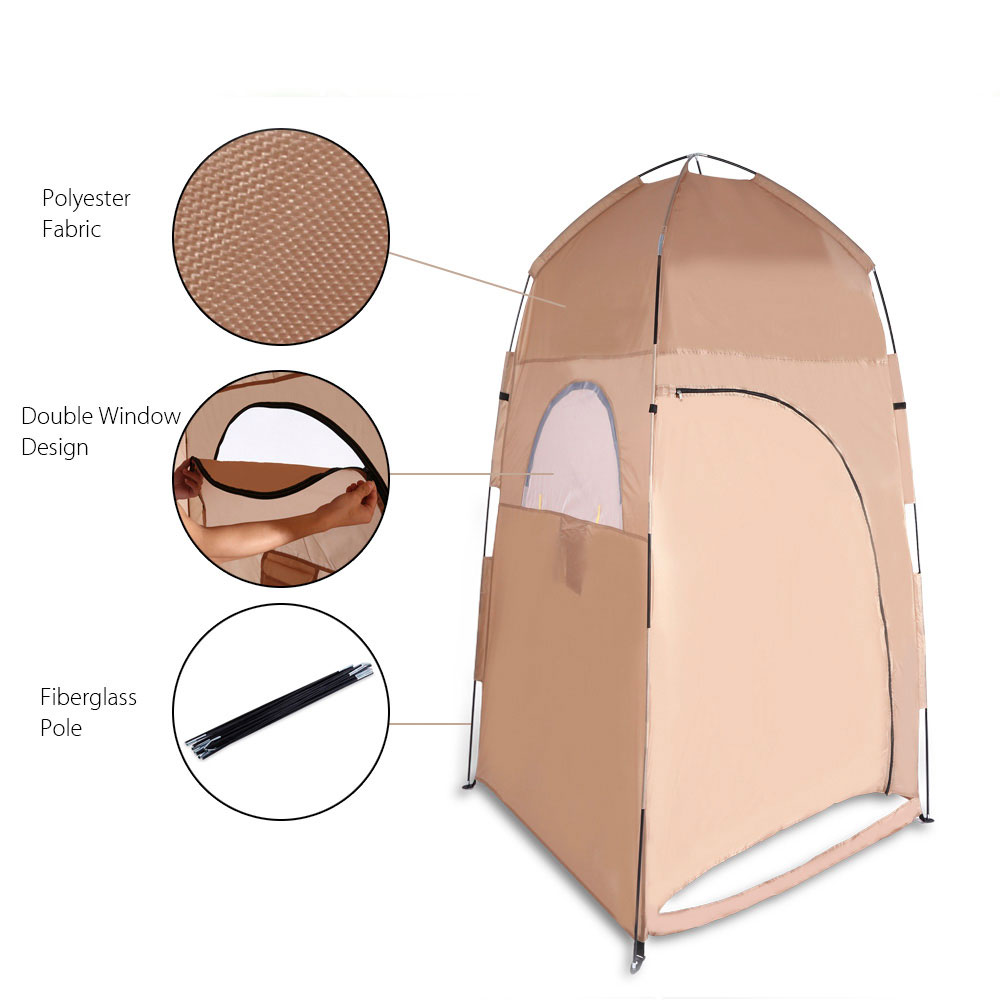 Portable Toilet Tent Collapsible Shower Tent Beach Shower