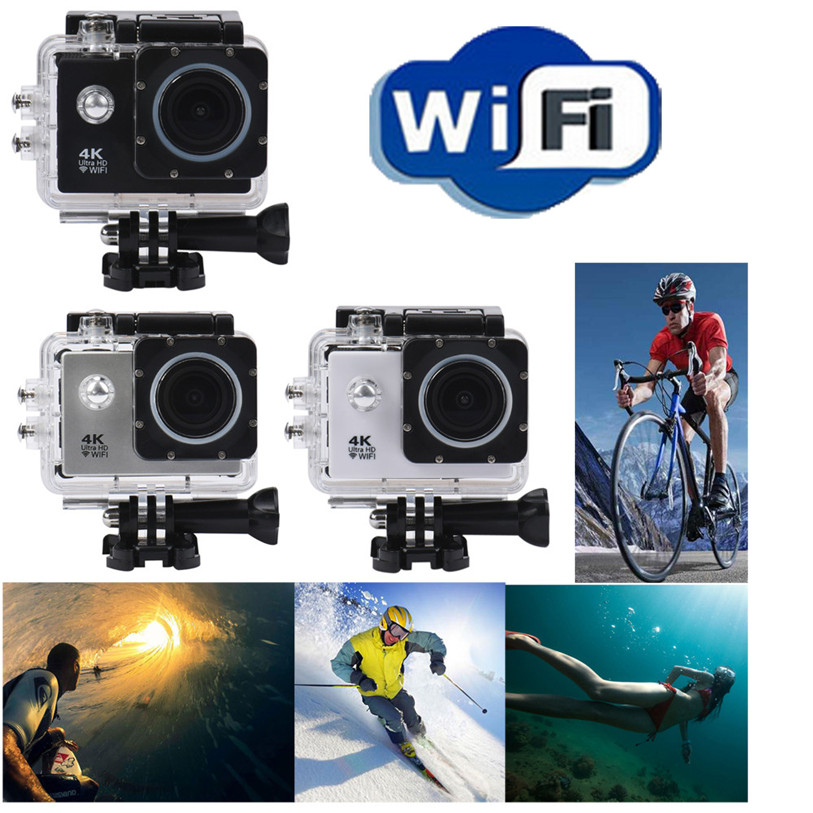 New Waterproof Case 4K WIFI Mini Action Cam HD DV Sports Recorder Camera Outdoor Bicycle Cycling Accessories High Quality May 2 12mm waterproof soprano concert ukulele bag case backpack 23 24 26 inch ukelele beige mini guitar accessories gig pu leather