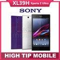 Оригинальный Разблокирована Sony Xperia Z Ultra XL39h Android Quad Кор 16 ГБ ROM C6802 C6833 GSM 3 Г и 4 Г 6.4 дюймов 8MP WI-FI Восстановленное телефон