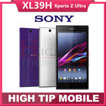 Original Unlocked Sony Xperia Z Ultra XL39h Android Quad-Cor 16GB ROM C6802 C6833 GSM 3G&4G 6.4 inch 8MP WIFI Refurbished Phone