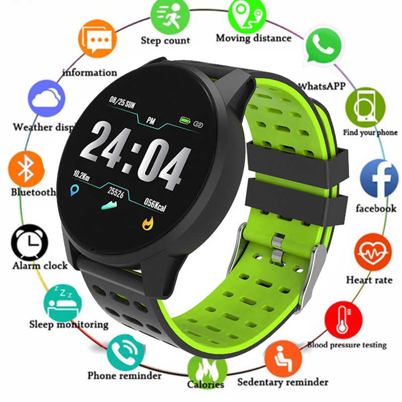Sport Smart Horloge Smart horloge IP68 waterdichte IPS Kleur Screen hartslagmeter Fitness tracker Sport smartwatch PK CF18 CF58