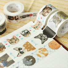 20/25/mm* 7m Cute Cat paper washi Tape DIY decoration scrapbooking planner masking tape adhesive tape label stickers stationery цены