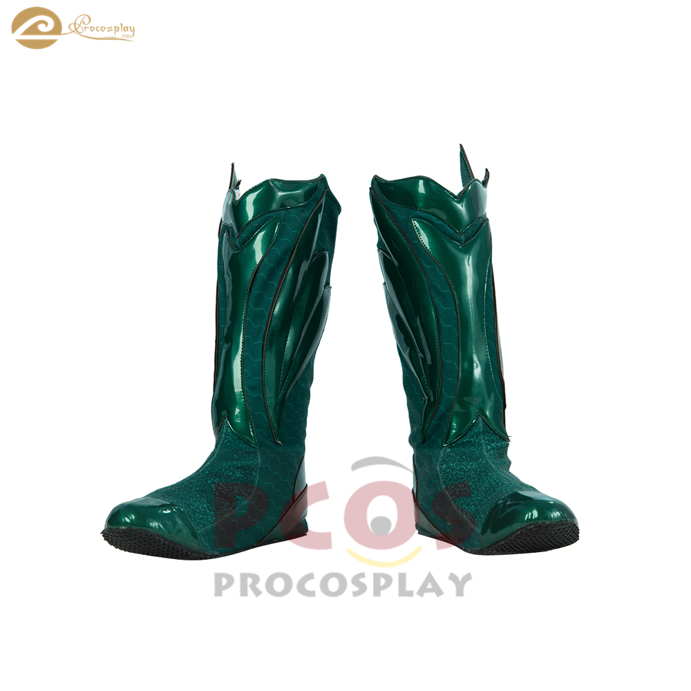 Light Green version king of Atlantis Arthur Curry Cosplay boots trident keeper Aquaman cosplay shoes mp004302