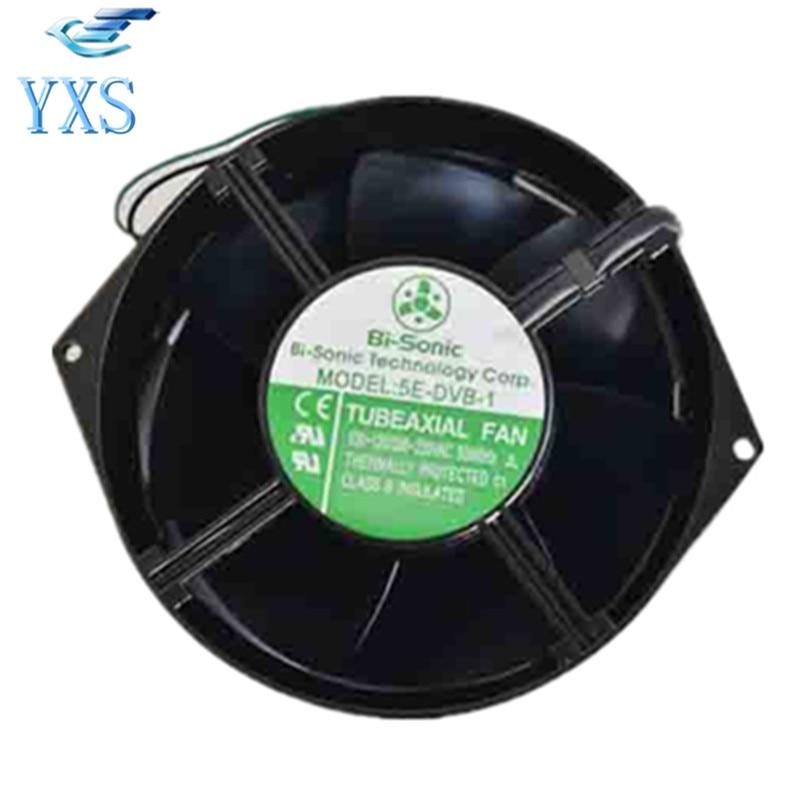 5E-DVB-1 AC 230V 50/60HZ 0.30/0.28A 46/44W 3100RPM 17055 17CM 170*150*55mm 2 Wires Metal Axial Cooling Fan