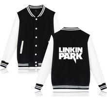 2017 LinKin Park Baseball Jacket Woman Great Singer Rock women Jacket Cotton in Winter Jacket Coat