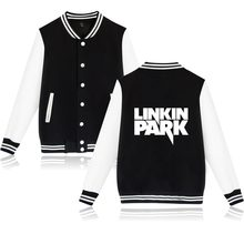 2017 LinKin Park Baseball Jacket Woman Great Singer Rock women Jacket Cotton in Winter Jacket Coat Women Clothes XXS-4XL