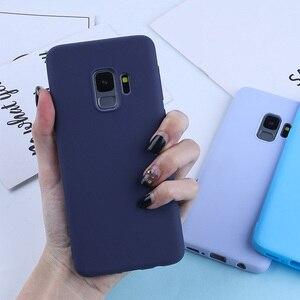 Image 2 - Candy Kleur Case Voor Samsung Galaxy A7 2018 A6 A8 Plus 2018 A50 A3 A5 A7 2016 2017 Zachte Siliconen gevallen TPU Matte Telefoon Covers