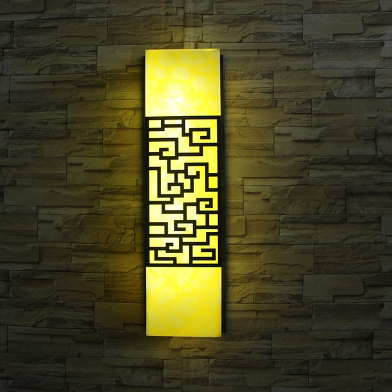 Traditional chinese style outdoor wall lamp pastoralism LED wall sconce courtyard hallway pathway art lamp LED outdoor lighting