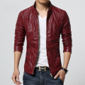 Black Red Yellow Big Size Pu Leather Biker Jacket Male Fashion Slim Fit Motorcycle Men Leather Jacket Plus Size 5XL 6XL