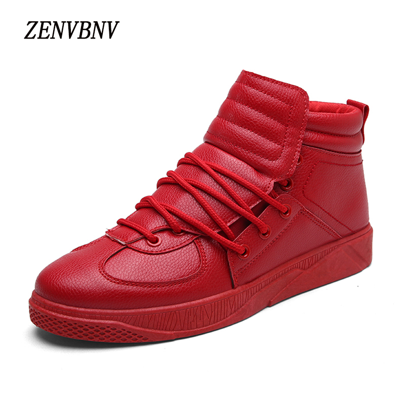 ZENVBNV 2017 High Quality Winter Men's Casual Shoes Breathable Fashion Men High Heel Top Leather Shoes Male Massage Lace Up 2017 simple common projects breathable lace up handmade leather shoes casual leather shoes party shoes men winter shoes