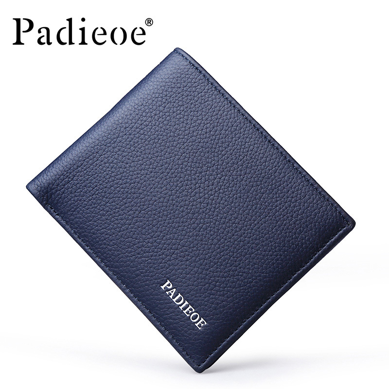 Padieoe Mens Wallets Famous Brand Short Wallet Man Homemade Male Slim Purse Cow Leather Business Card Holder Clutch Wallets джемпер brave soul brave soul br019ewulf49