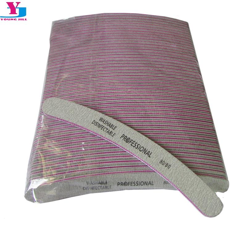 50pcs Wholesale Grey Nail Art File 80/80 Grit Sanding Buffer Manicure Diagnostic Tools UV Gel Polisher Nail Files Lixa De Unha