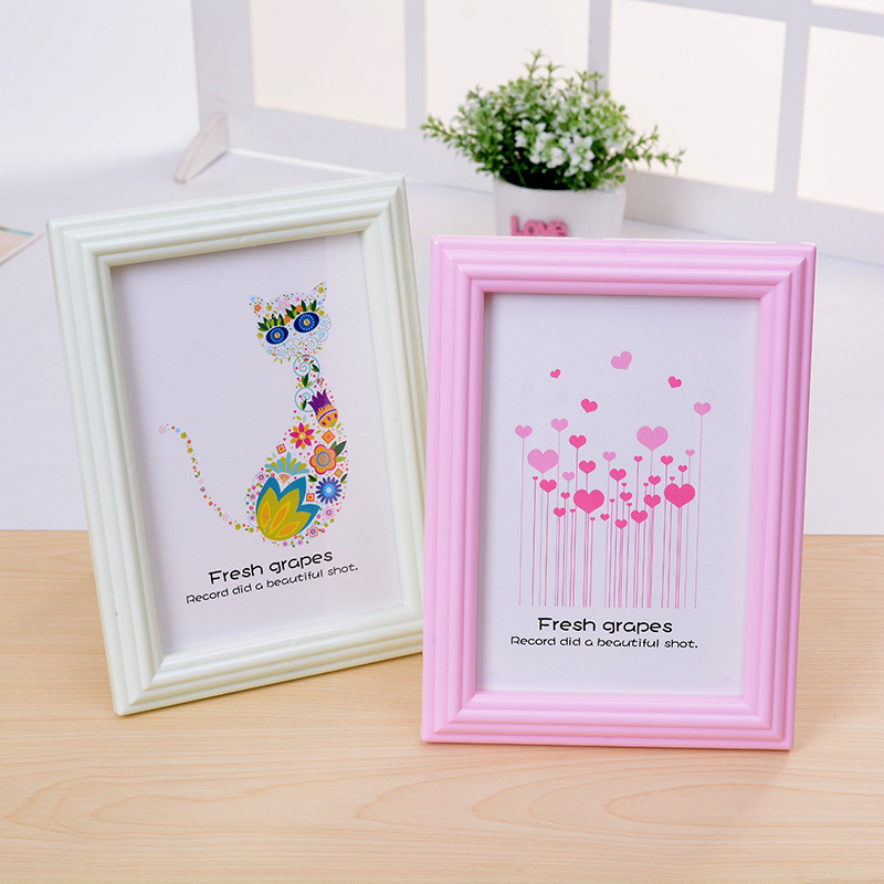 2017 6inch 1x picture frame european sweet picture desktop rectangle photo frame home decor marcos de