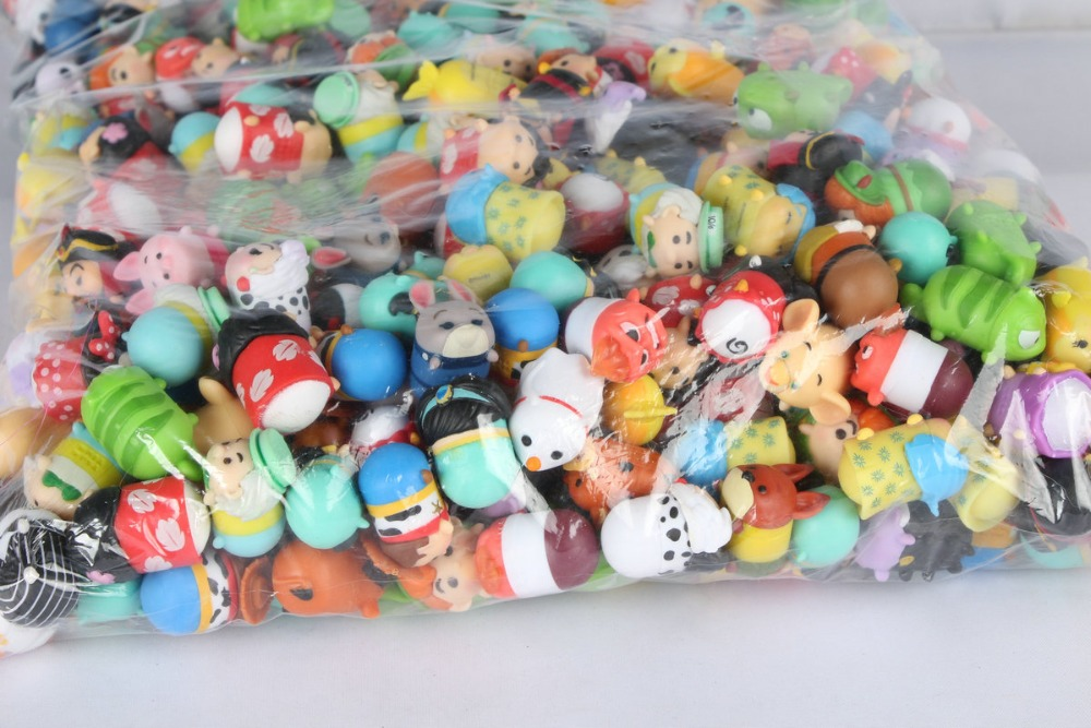 Many Cartoon Animal Model Toy 2CM Stack Up Dolls Capsule Toys Kids Favorate Gift Stack Stack