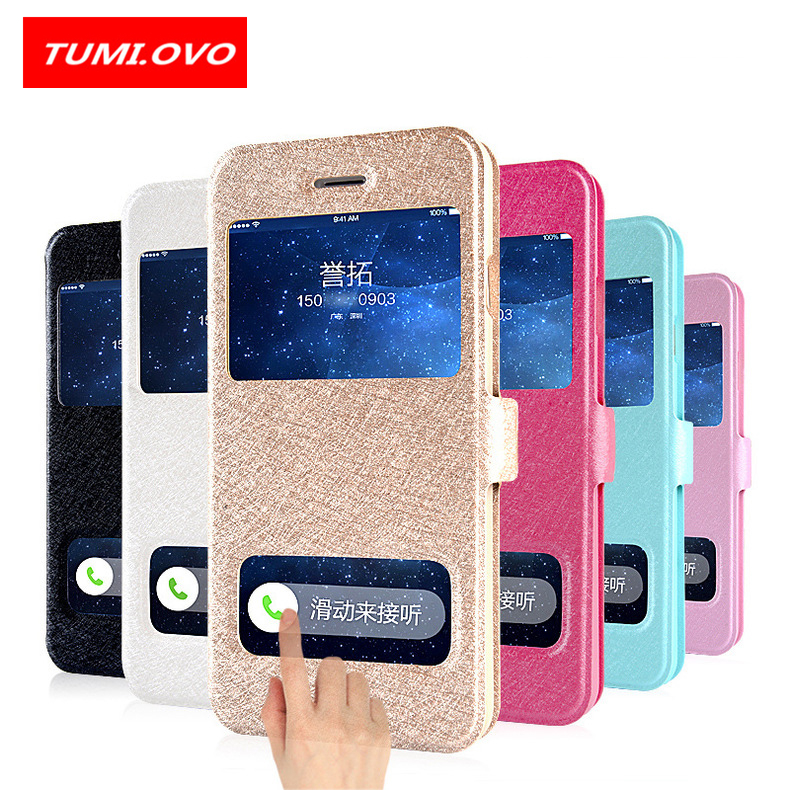 Luxury Smart Front Window View Leather Filp Case For IPhone X Cases Cover Phone Case For IPhone 6 6S 7 8 Plus 5 5S 5SE Coque