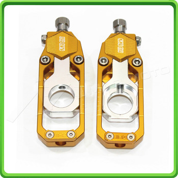 Motorcycle Chain Tensioner Adjuster fit for KAWASAKI Ninja ZX6R ZX-6R 2005 2006 2007 2008 2009 2010 2011 2012 Gold & Silver