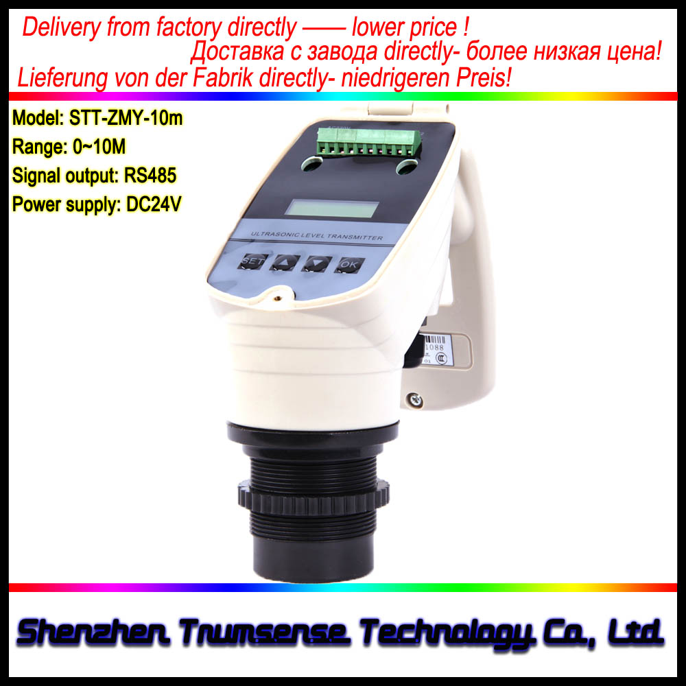 RS485 Sortie Intégré Indicateur de Niveau À Ultrasons/Ultrasons Jauge de Niveau D'eau/Gamme 10 m/24VDC Alimentation