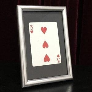 Signed Card Thru The Frame (11cm*16cm) Japan Stage Magic Tricks Card Vanishing Illusions Magician Toys Fun Close Up Magia