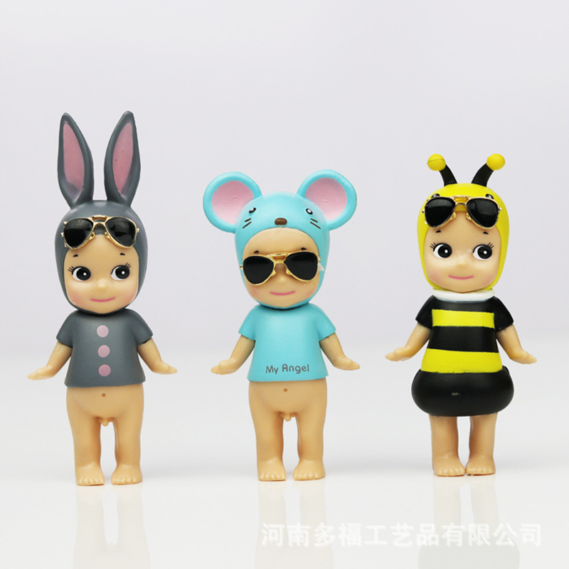 Cute LOL Dolls Angel Doll Angel Baby Doll Car Model Figurine Decoration Toys for Children figurine