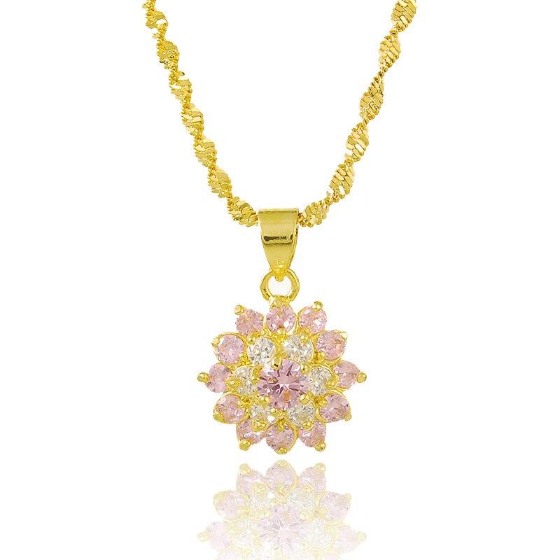 JP154 Beautiful Ladies Simple Design Plated 24K Gold ...