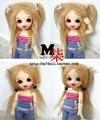 1/8 1/12 BJD Wigs Fashion yellow fur wig bjd sd long curly wig for DIY dollfie