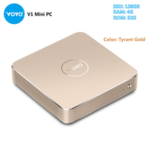 VOYO V1 Mini PC Intel Pentium N4200 Quad Core CPU Windows 10.1 with 4G RAM 32GB eMMC + 128GB SSD 5G WiFi Smart Media Player