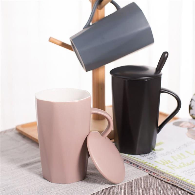 Creative Coffee Cup Water Tea Mugs European Matte Clay Mug Color Blocking 3 Color Ceramic Coffee Mug Porcelain Milk Cup 2018 New