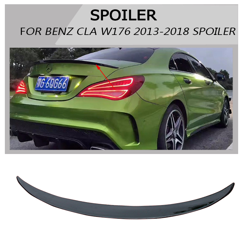 Rear Piano paint painted Trunk Wings Spoiler fit For Mercedes Benz CLA Spoiler CLA45 W117 C117 cla 200 250 260 2013 - 2018 mercedes cla w117 amg style replacement cf rear trunk wing spoiler for benz 2013 cla 180 cla200 cla 250