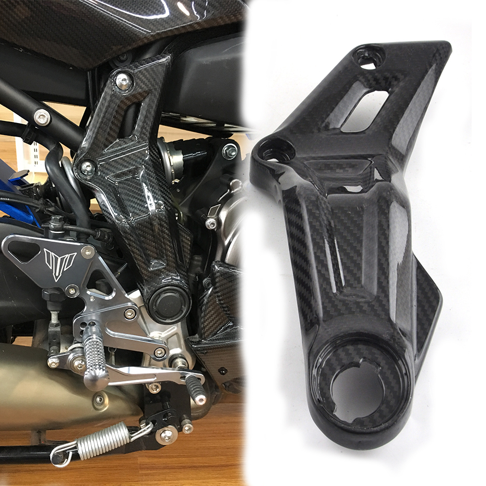 KEMiMOTO For Yamaha MT 07 MT07 Side Frame Panels twill weave Real Carbon Fiber FZ-07 MT-07 2013 2014 2015 2016 titanium cnc aluminum racing adjustable rearset foot pegs rear sets for yamaha mt 07 fz 07 mt07 fz07 2013 2014 2015 2016