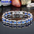 TrustyLan Punk Rock Biker Jewelry Stainless Steel Men's Bracelets Fashion Bicycle Chain Bracelet Jewellery Bracelets Bangles