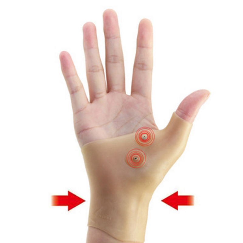 Us 3 34 33 Off 1pcs Silicone Gel Magnetic Therapy Wrist Hand Thumb Support Gloves Arthritis Pressure Corrector Massage Pain Relief Gloves A016 In