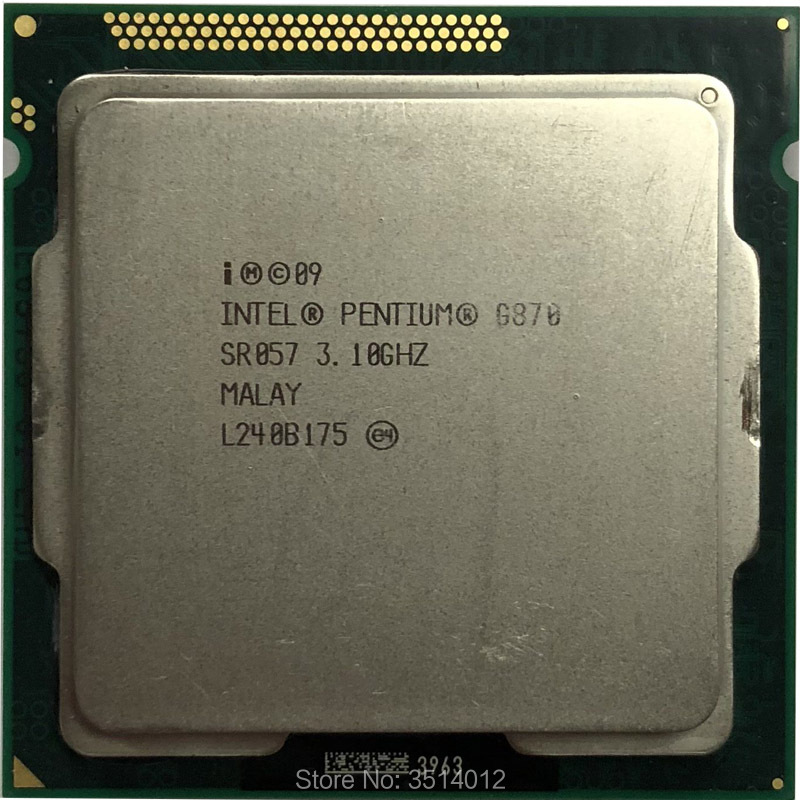 Aggressiv Intel Pentium G870 3,1 Ghz Dual-core Cpu Prozessor 3 Mt 65 Watt Lga 1155 Modern Und Elegant In Mode
