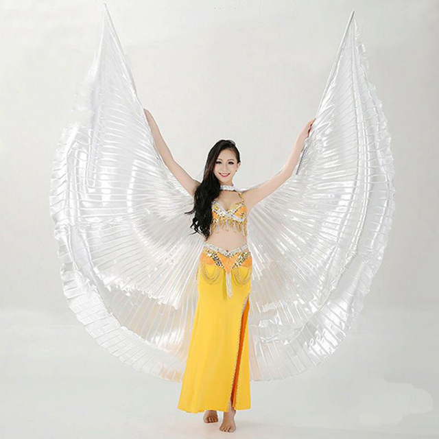 f68514202 Hot Selling Adults Shining Egyptian Belly Dancing Isis Wings 11 Colors Belly  Dance Wings Without Sticks