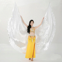 2015 Hot Selling Shining Egyptian Belly Dancing Isis Wings White Belly Dance Costume Wings On Sale