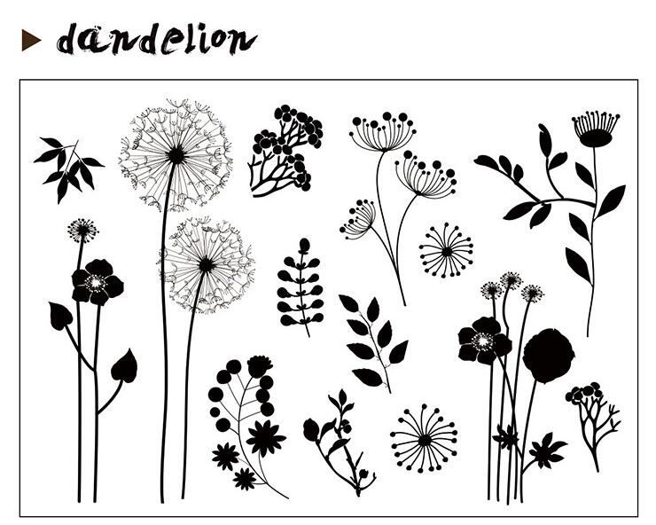Dandelion Transparent Clear Silicone Stamp/Seal for DIY scrapbooking/photo album Decorative clear stamp A0123