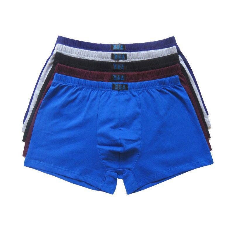 Man Boxer Panties Shorts Men's Underwear Comfortable Cotton Brand Male Solid 6pcs/Lot