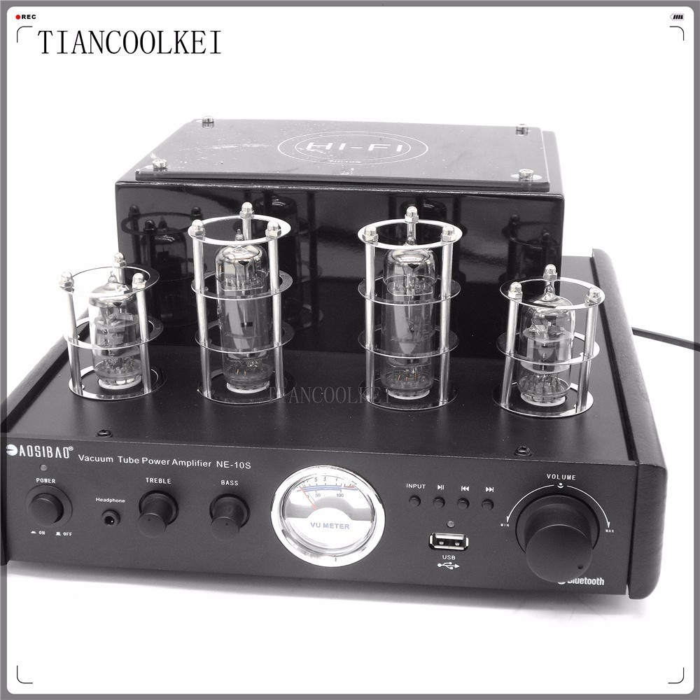 Upgraded NEW black MS-10D MKII Hifi 2.0 tube amplifier USB/Bluetooth 4.0 amplifier 100W stereo Audio Amplifier upgraded new black ms 10d mkii hifi 2 0 tube amplifier usb bluetooth 4 0 amplifier 100w stereo audio amplifier