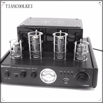 Upgraded NEW black MS-10D MKII Hifi 2.0 tube amplifier USB/Bluetooth 4.0 amplifier 100W stereo Audio Amplifier himing rivals el34 aluminum tube amplifier hifi exquis headphone output bluetooth handmade scaffolding panel rhel34apb