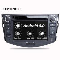2din dvd плеер мультимедийный плеер Android 8,0 для Toyota RAV4 2007 2008 2009 2010 2011 2012 Радио Стерео gps навигации
