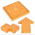 Classic IQ 3D Tetris Wooden Brain Teaser Puzzle Game Educational Toys for Children/Adults,Creative 3D Wooden Puzzle Toys