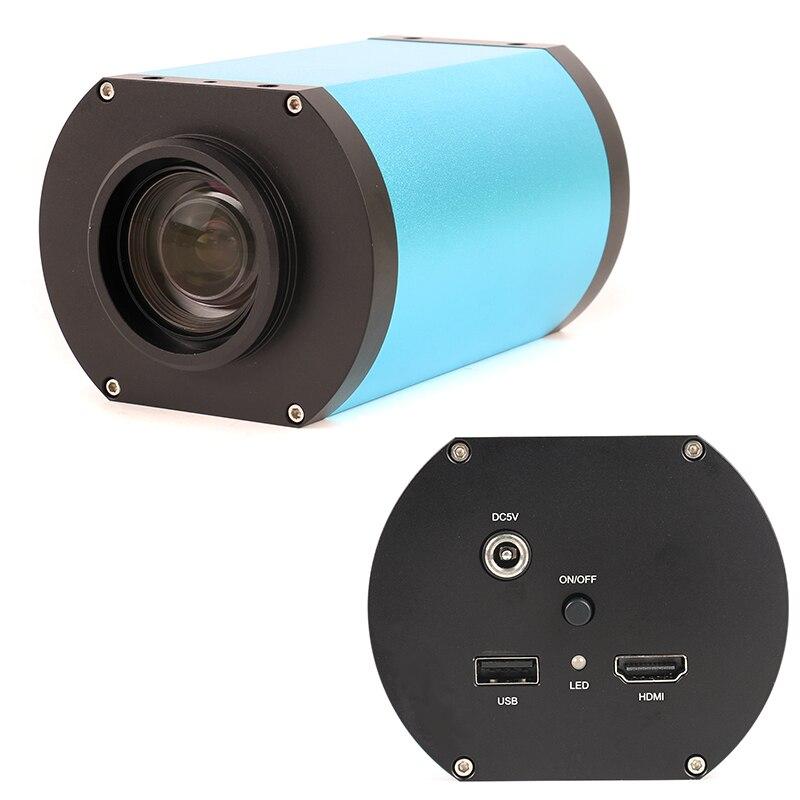 HDMI Autofocus industriel Microscope caméra optique lentille 1080P 60FPS SONY IMX290 CMOS capteur d'image parfocale grand champ de vision