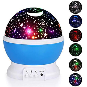 Image 3 - LED Rotating Star Projector Novelty Lighting Moon Sky Rotation Kids Baby Nursery Night Light Battery Or USB Port Operated