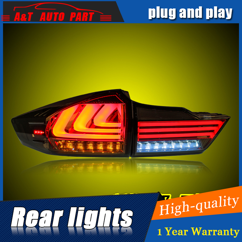 Car Styling LED Tail Lamp for honda city Taillight assembl 2015-2016 for city Rear Light DRL+Turn Signal+Brake with hid kit 2pcs car styling led tail lamp for mondeo led taillights 2013 2015 rear light drl turn signal brake reverse auto accessories led ligh