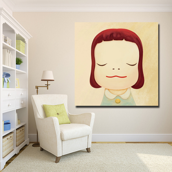 Cartoon Painting Yoshitomo Nara Sleepwalking Dolls Canvas Art Painting Print Poster Picture Wall Art For Baby Room Home Decor image