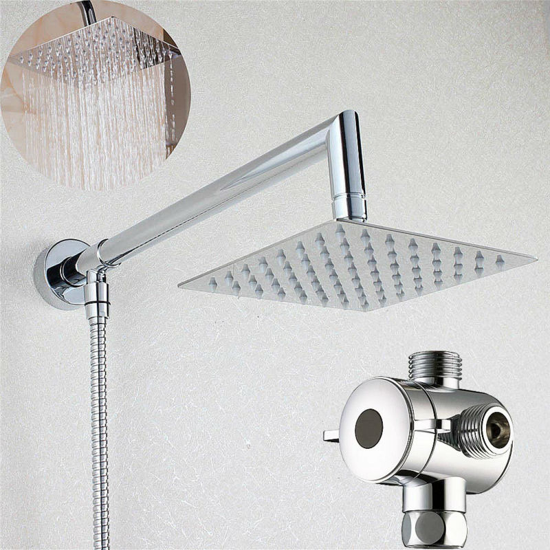 6  Square Rainfall Shower Head with Shower Arm Bottom Entry   3 Way  Diverter TPopular 3 Shower Arm Buy Cheap 3 Shower Arm lots from China 3  . Rain Shower Head With Extension Arm. Home Design Ideas